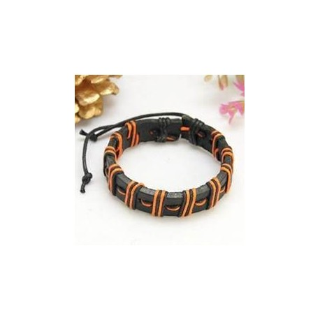 PH101 - PULSERA MARRON BLANCO