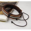 BT301 - PULSERA MARRON BLANCO
