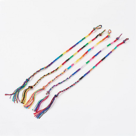 BT092 PULSERA HILO SEDA COLOR INTENSO